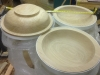 Extremley large oak bowls turned to fit trade stands
