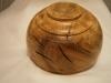Oak rustic bowl underside