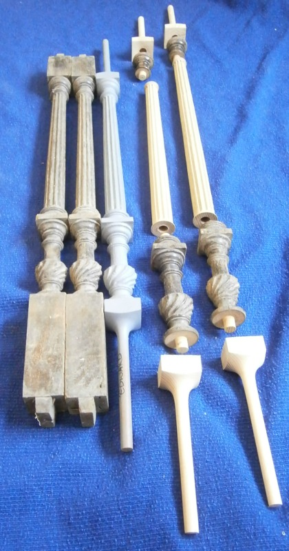 Edwardian Flutted balusters extended ready to be cast in Aluminum