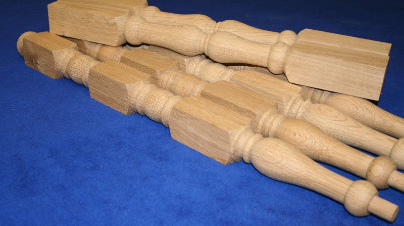 Chair legs and stretchers