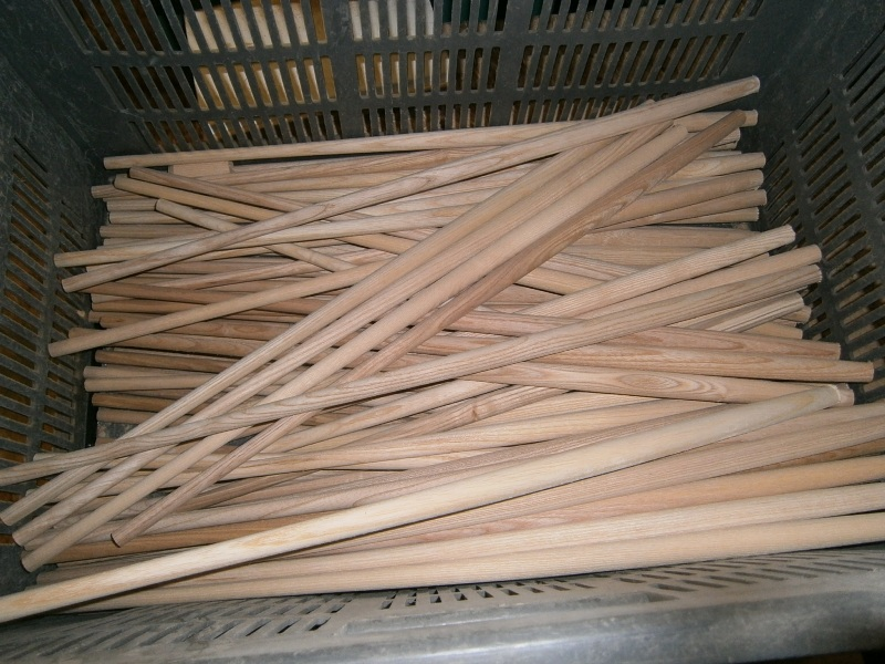 "Ash 21"" Windsor chair back sticks turned by Phil Jones professional wood turner."