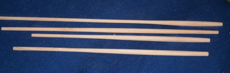Windsor chair back sticks in Ash turned by Phil Jones professional wood turner